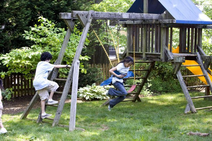 kids swing sets illustrative photo