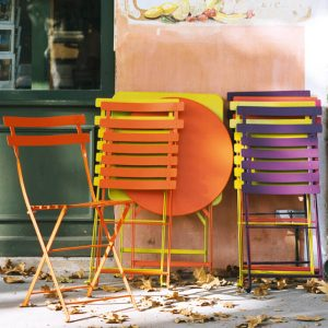 French Garden Furniture Metal Bistro Chairs