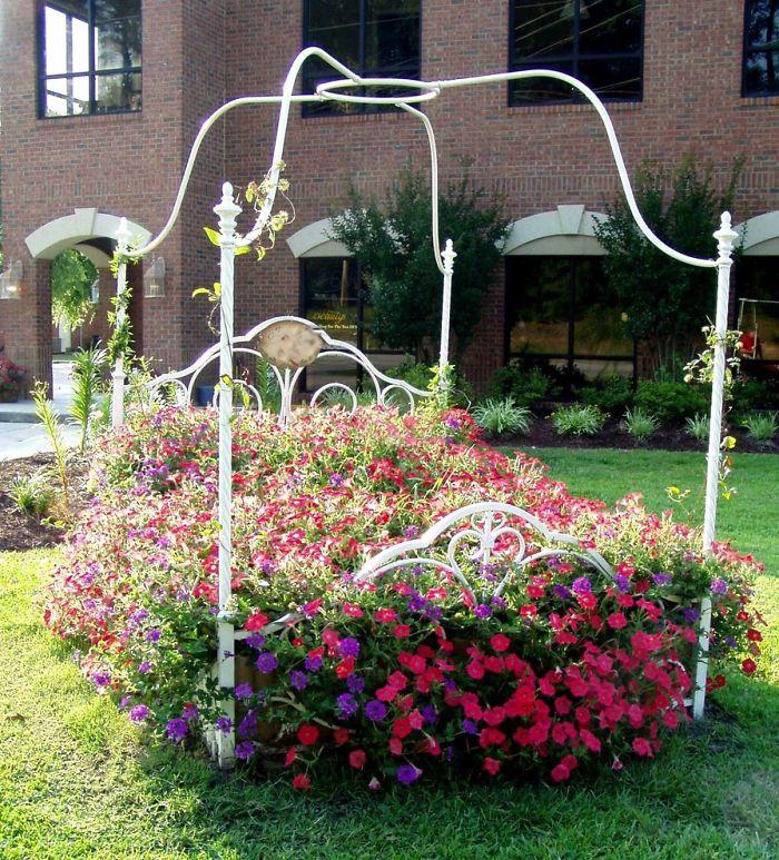 bed frame garden diy
