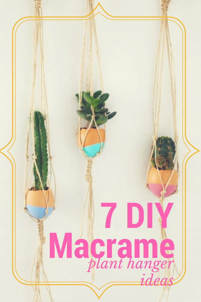 macrame plant holder ideas