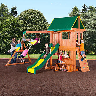 Backyard Discovery Somerset All Cedar Wood Playset Swingset
