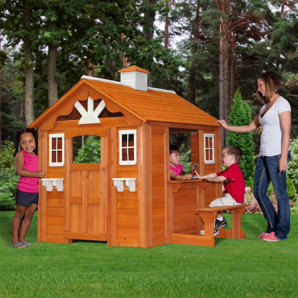 Backyard Discovery Summer Cottage All Cedar Wood Play House