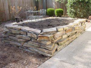 raised garden bed stone