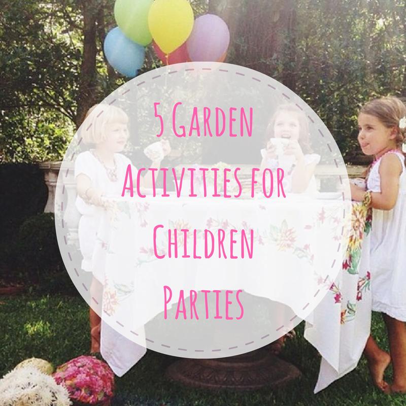 garden activities for children parties