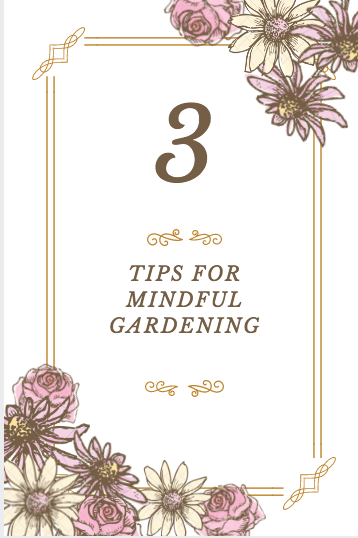 3 tips for mindful gardening