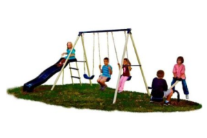 "Flexible Flyer ""Triple Fun"" Swing Set"