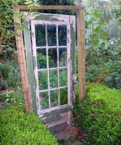 wooden vintage door garden gate