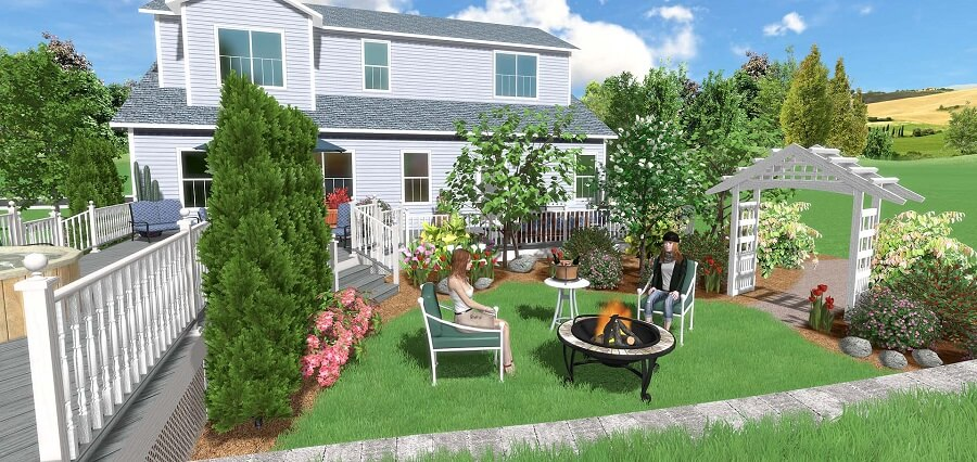 virtual image taken from a landscaping design software
