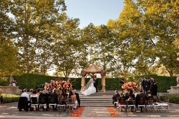 wedding outside in a garden