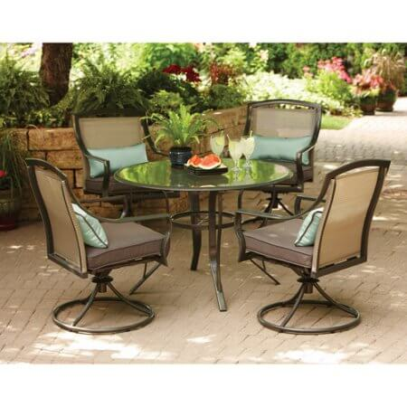 elegant aqua garden furniture for dining outside