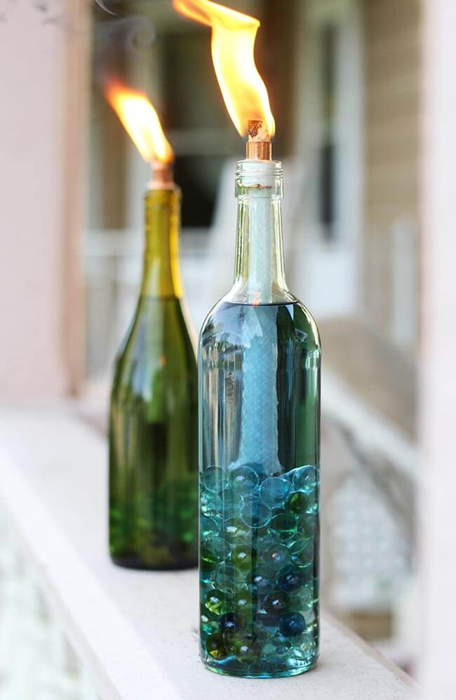 make candles in a bottle for a garden party