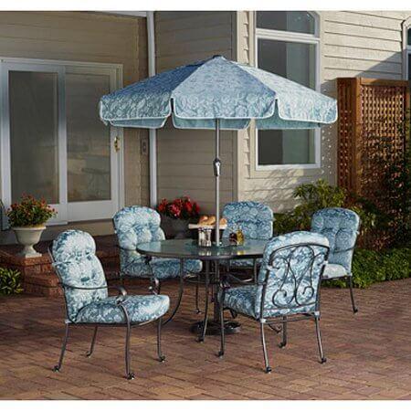 aqua garden furniture set in the color aqua blue