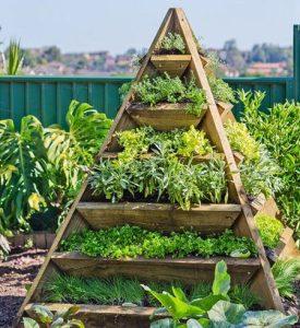 raised vegetable garden pyramid