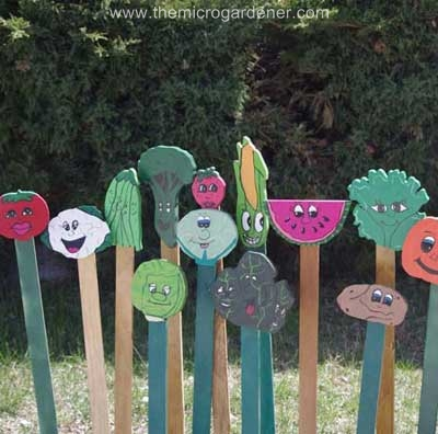 colorful wooden planters