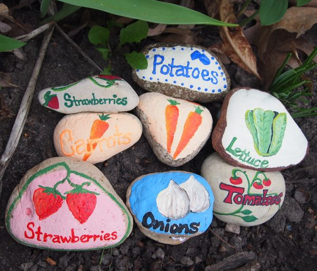 Make Garden Markers Out of Rocks