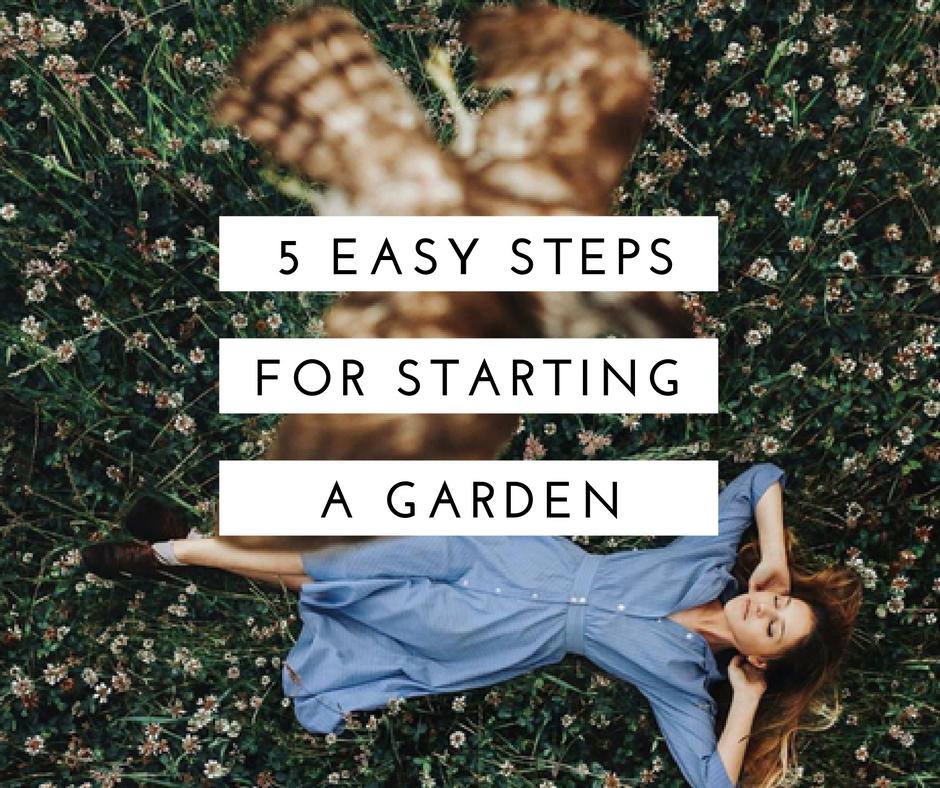 easy steps for starting a garden
