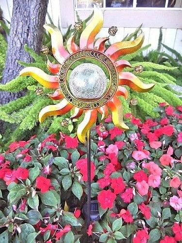 copper-sunlight decorative garden stakes