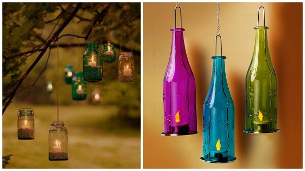 faity lights in-mason-jars-and-glass-bottles