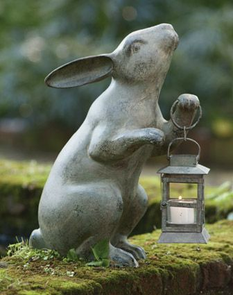 garden lanterns-march-hare-rabbit