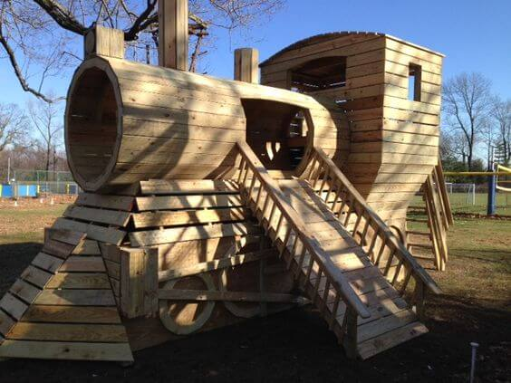 garden playhouse ideas locomotive playhouse