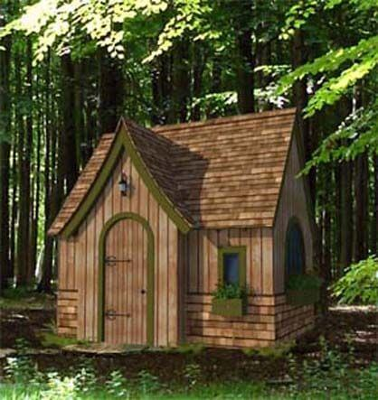 4 cool garden playhouse ideas find the perfect one for Whimsical playhouses