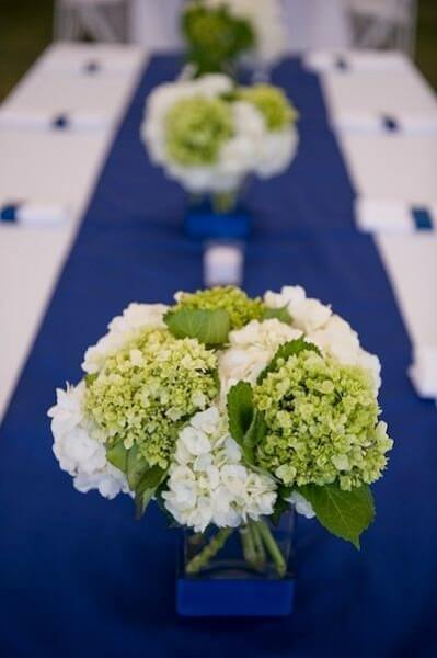 garden wedding ideas chartreuse and navy