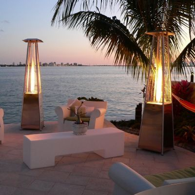 garden-with patio heaters