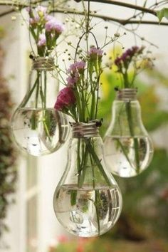 how to make flower pots from waste light bulbs