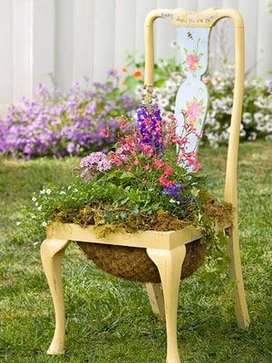 how to make flower pots from waste old chair