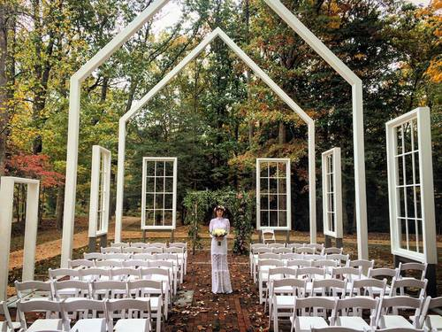 beautiful woods outdoor wedding