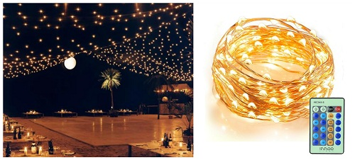 picnic wedding lights