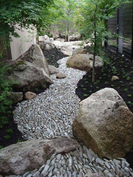 rock garden ideas river of rocks design