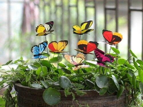 small-butterflies decorative garden stakes