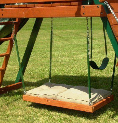 swing set accessories swing bed combo