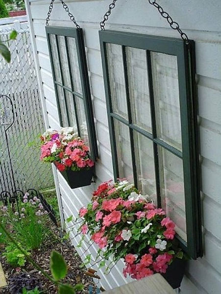 used picture frames ideas faux windows