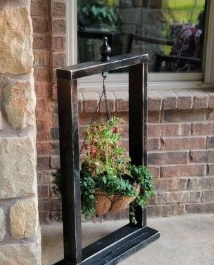 used picture frames ideas flower pot