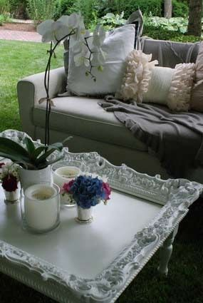used picture frames ideas garden table top
