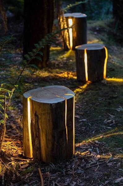 wood patio furniture ideas wood with lights