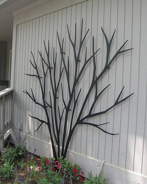 black trellis resembling a tree