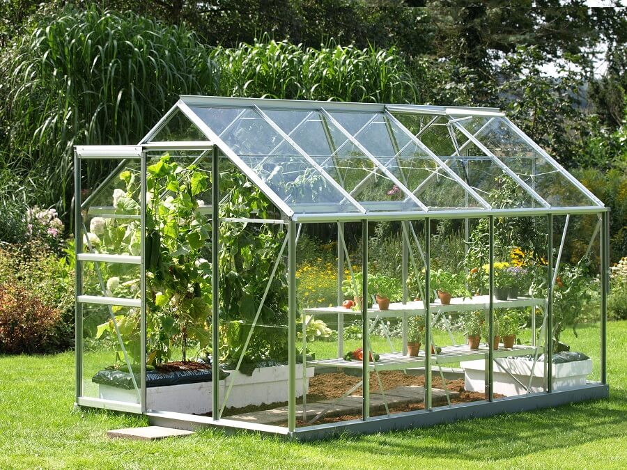 greenhouse made entirely of glass