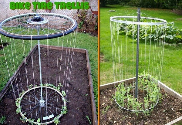 Bike Rims Diy Garden Trellis Idea