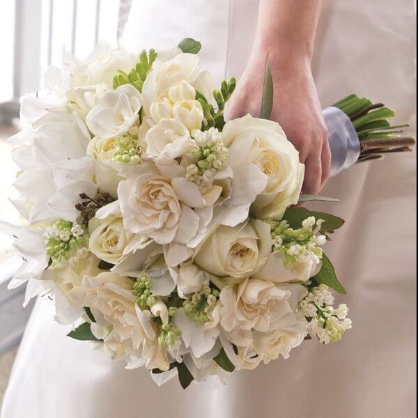 wedding bouquet with white flowers
