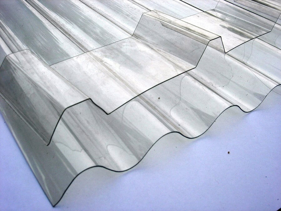 pieces of transparent polycarbonate sheeting