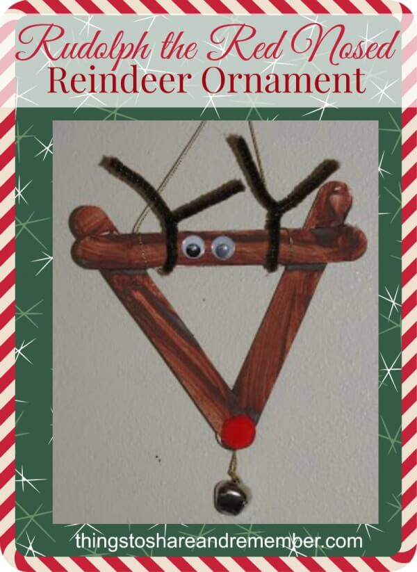 rudolph christmas ornament