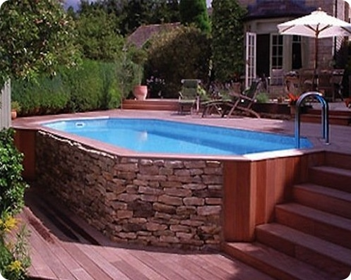 stylish above ground pool