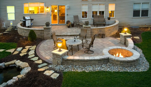 elegant looking patio