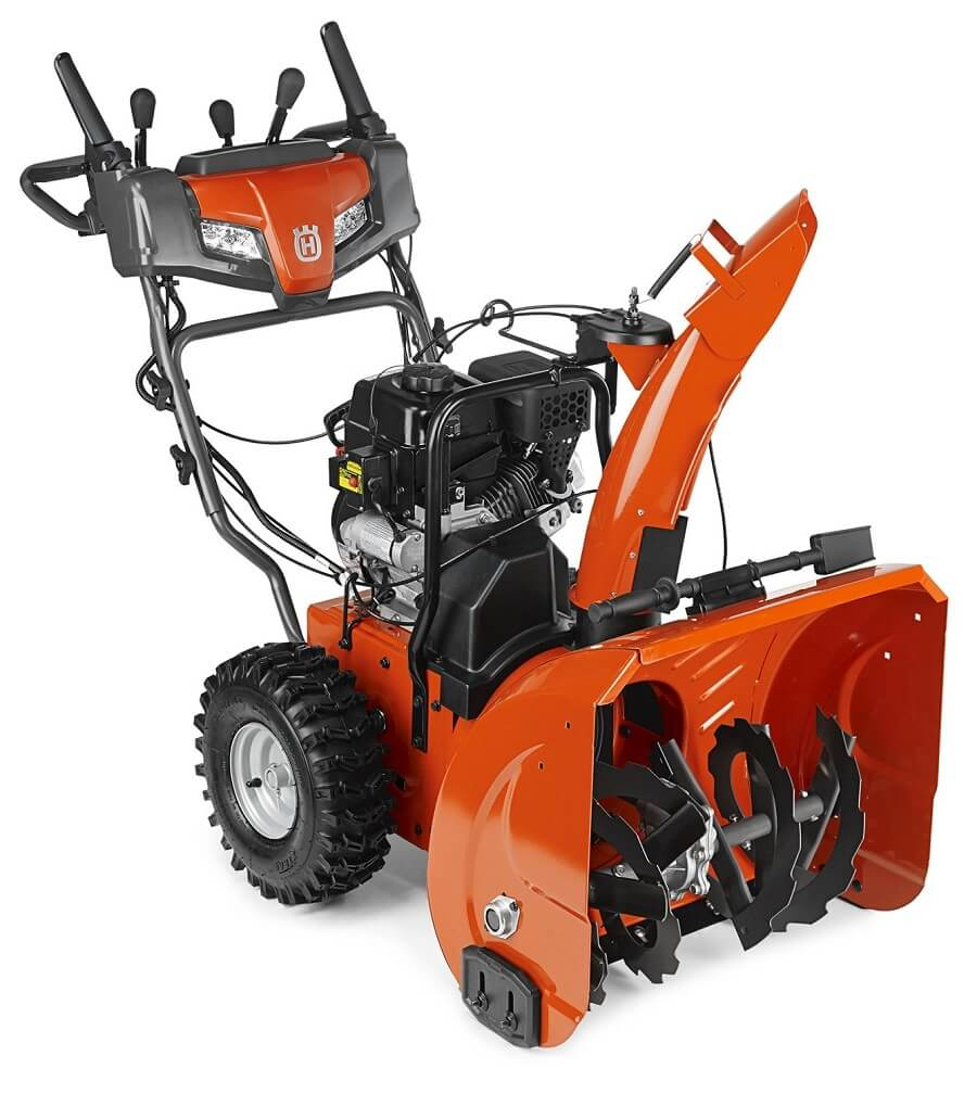 orange husqvarna snow blower