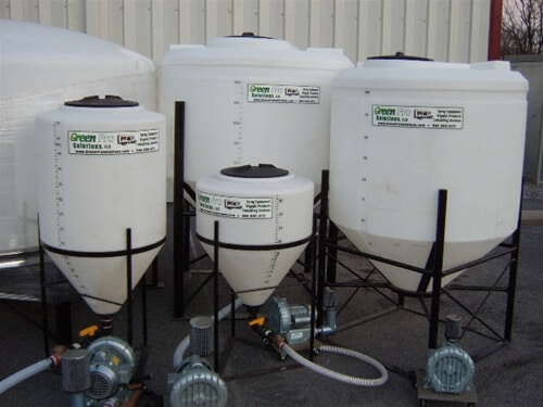 different sizes of compost tea brewers