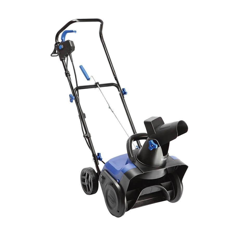 blue snow blower