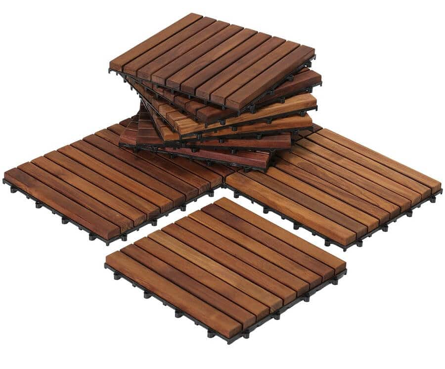 patio pavers made of wood